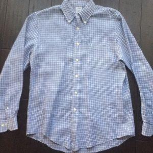 Brooks Brothers Blue squares slim fit shirt